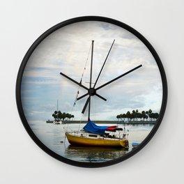 Sailboat Rainbow Wall Clock