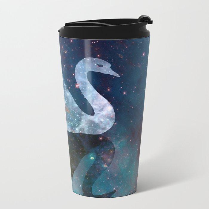 Sparkly Swan Metal Travel Mug