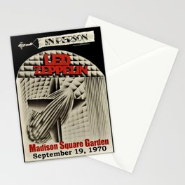 1970 Zeppelin at Madison Square Garden in New York Concert Poster Stationery Cards