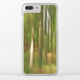 Abstract green forest Clear iPhone Case