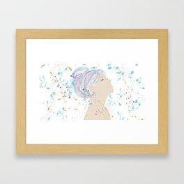 Watercolor Hair Framed Art Print