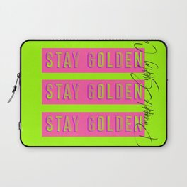 Stay Golden in Bold Neon Graphic with Pineapple Supply Co. Included Laptop Sleeve