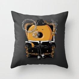 Gangster Donut Throw Pillow
