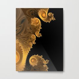 Pumpkin Swirls - Fractal Art Metal Print