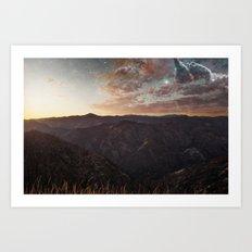 Sundown Yosemite Art Print