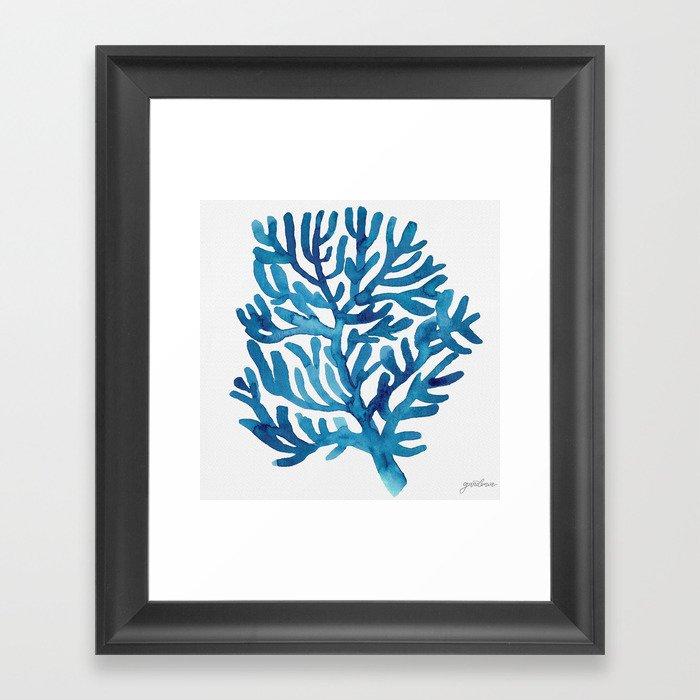 Ocean Illustrations Collection Part IV Framed Art Print