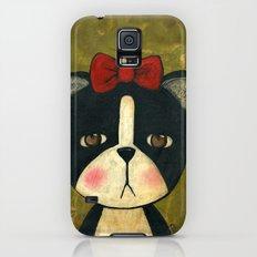 Portrait Of A Boston Terrier Dog Galaxy S5 Slim Case