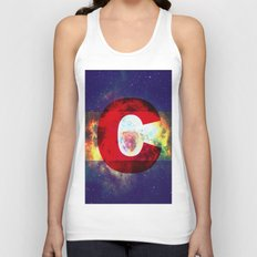 Colorado Flag/Galaxy Print Unisex Tank Top