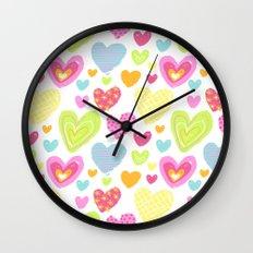 spring hearts Wall Clock
