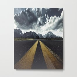 grand teton national park road Metal Print