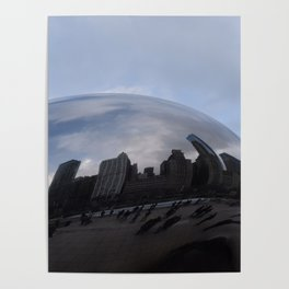 Cloud gate at Chicago Poster
