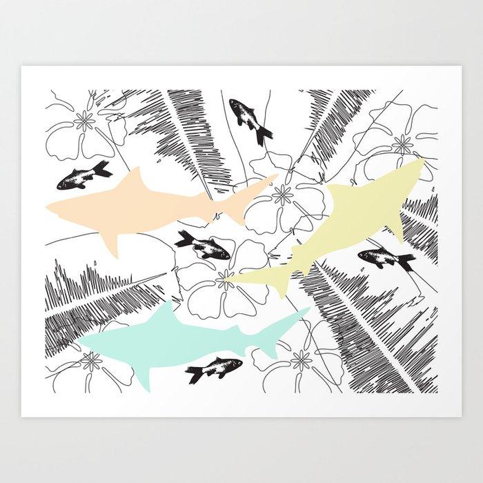 Shark Tank Art Print