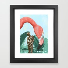 Mid Afternoon At The Plastic Garden Framed Art Print
