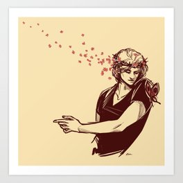 boy king with the flower crown (supernatural) Art Print
