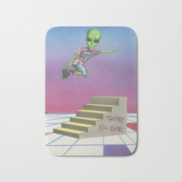 Rollerblading Alien Bath Mat