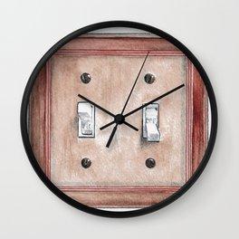 Turn On Turn Off Wall Clock