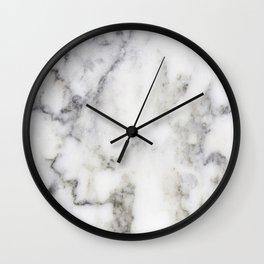 Gray Marble Print Wall Clock