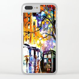 Tardis and Dr.Who Clear iPhone Case