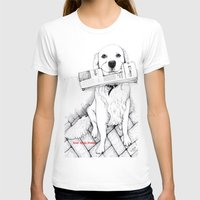 golden retriever T-shirts featuring Golden Retriever Morning by Syndi Smilez Studios