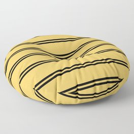 Yellow and Black House Colors Stripes Floor Pillow