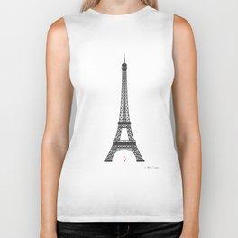 Eiffel Tower - First Kiss Biker Tank