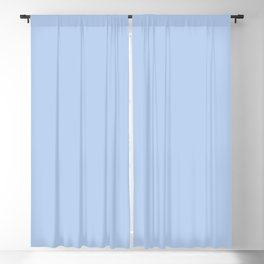 Solid Angel Blue Pastel Simple Solid Color All Over Print Blackout Curtain