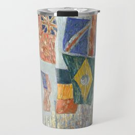 Avenue of the Allies, Great Britain, 1918 by Childe Hassam Travel Mug