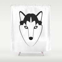 husky Shower Curtains featuring Husky by anabelledubois
