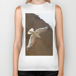 Seagull in the sky Biker Tank