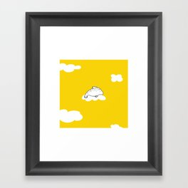 Flying Manatee by Amanda Jones Framed Art Print