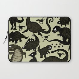 Silhouetted Dinosaurs Laptop Sleeve