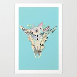 Bohemian Skeleton Chic Art Print