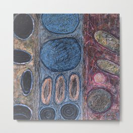 Round Textured Shapes Metal Print