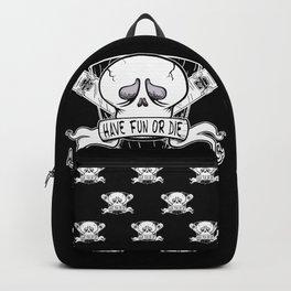Have Fun or Die - Skateboard Skull Backpack