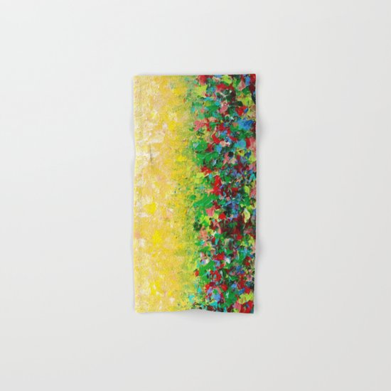 NATURE'S LIVING ROOM - Gorgeous Bright Bold Nature Wildflower Field Landscape Abstract Art New 2012 Hand & Bath Towel