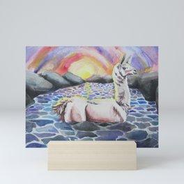 Llama Ness Monster Mini Art Print