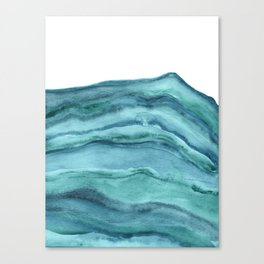 Watercolor Agate - Teal Blue Canvas Print