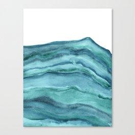 Watercolor Agate - Teal Blue Canvas Print