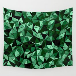 Emerald Lo Poly Wall Tapestry