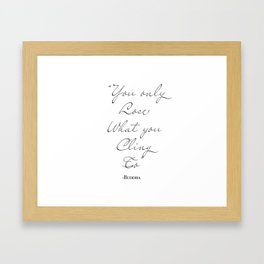 Buddha Quote Framed Art Print
