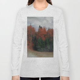 October Forest Red Green Long Sleeve T-shirt