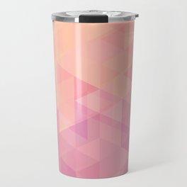 Geometric Pink  Travel Mug