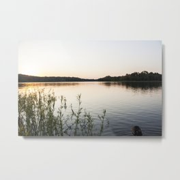 Sunset at Okmulgee Lake Metal Print