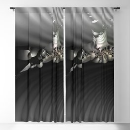 Storm of life renewal - Black and white with a hint of tint Blackout Curtain