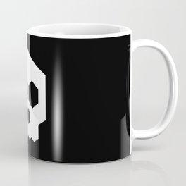 hex geometric halloween skull Coffee Mug