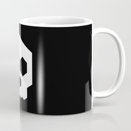 hex geometric halloween skull Coffee Mug