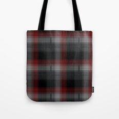 Black, Red, Lumberjack Plaid Tote Bag