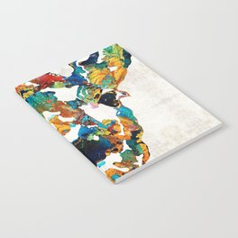 Colorful Giraffe Art - Curious - By Sharon Cummings Notebook