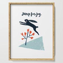 Jump for Joy - Black Rabbit Serving Tray