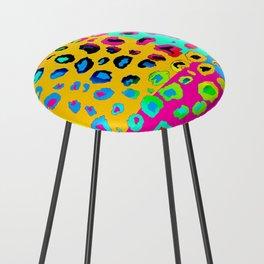 colorpop leopard Counter Stool